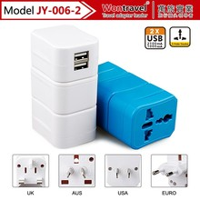 JY-006-2 usb multi functional mobile phone accessories travel adapter plug for promotion /business /company gift