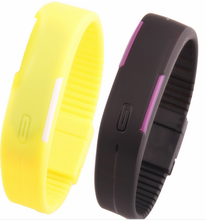 Wholesale Cheap Silicone LED watches multi-color band