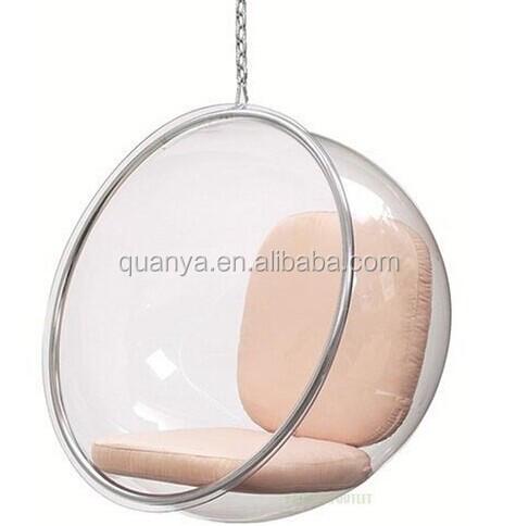 Eero aarnio burbuja de acr lico colgante ocio transparente - Sillas acrilico transparente ...