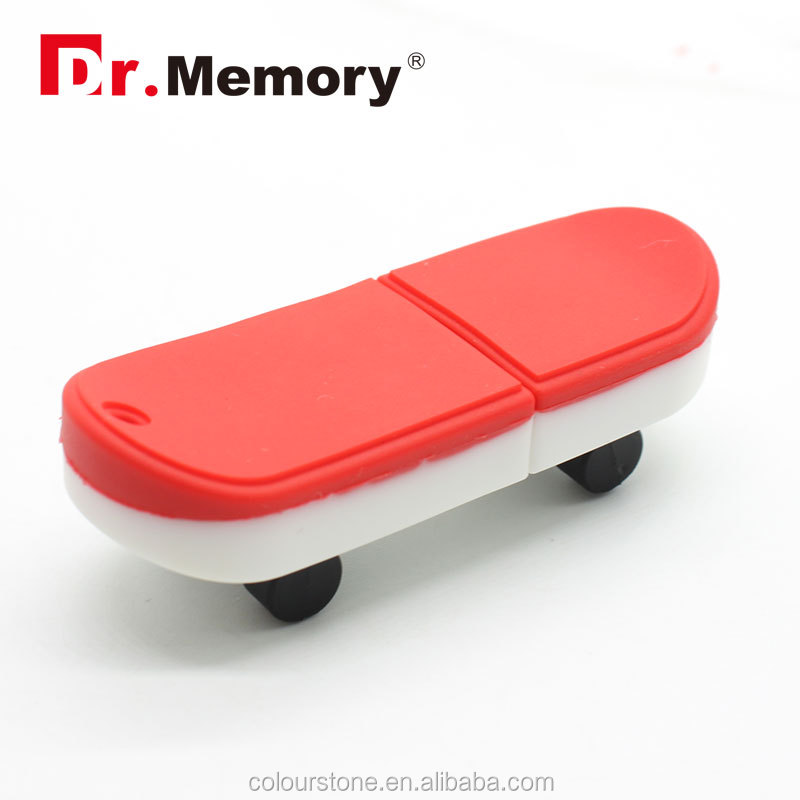 Dr.memory Novelty usb gedget Skateboard shape usb flash drive can print your own logo