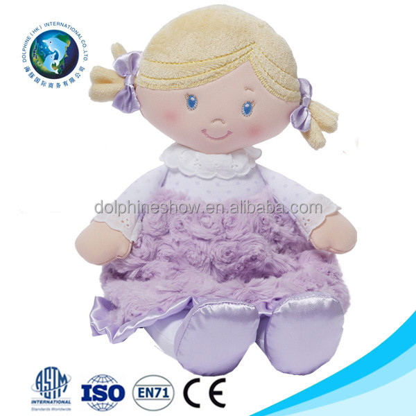 Safe quality New kids toy plush rag cloth sex toy girl doll wholesale custom pretty stuffed soft plush pink baby toy doll