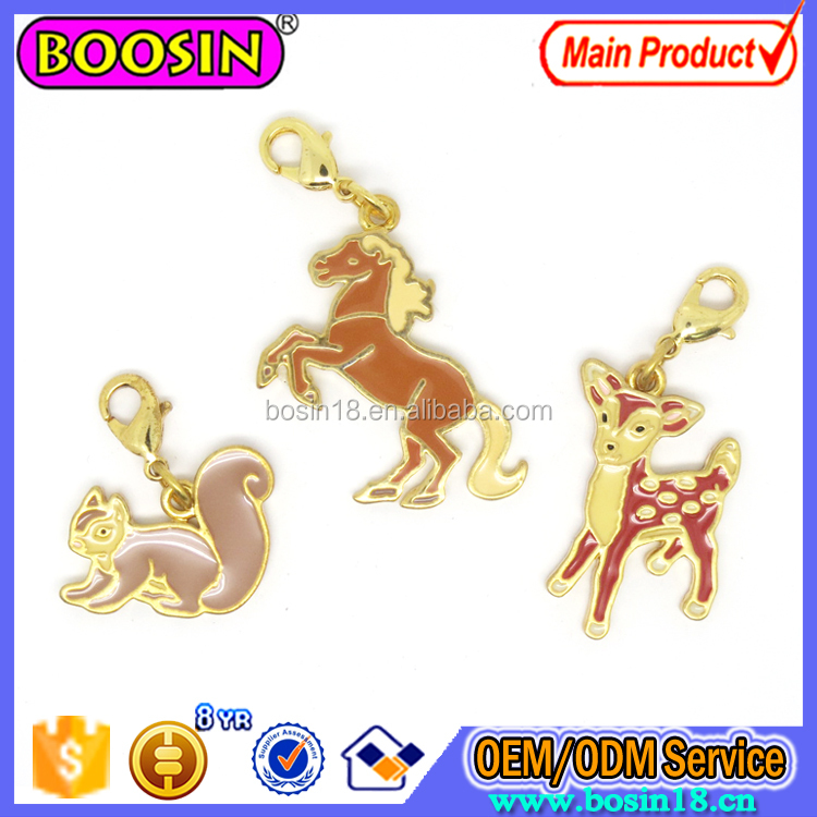 Wholesale Animal Dear Charm Gold Plated Charm For Jewelry #17218