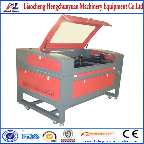 low cost desktop 50W co2 water cooling wood laser cutting machine