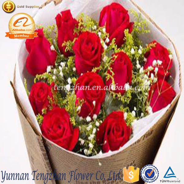Fragrant aroma crazy selling fresh cut glaring different type of rose flowers
