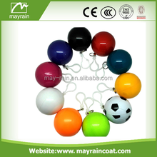 hot sale custom disposable poncho with ball