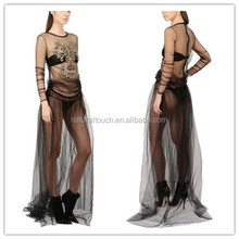 2015 Alibaba express sexy girls without dress,transparent dresses ladies WS00303