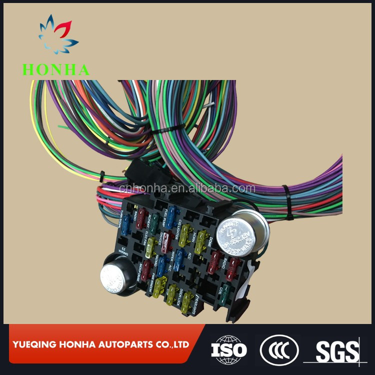 12 CIRCUIT UNIVERSAL WIRE HARNESS MUSCLE CAR HOT ROD STREET ROD NEW automobile wiring harness