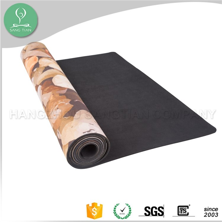 2017 Amazon hot sale custom label eco yoga mat customized natural rubber full color printed mat for yoga