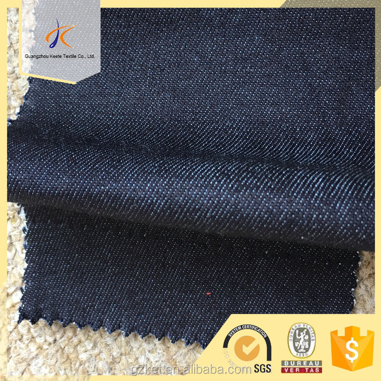 woven twill cotton polyester rayon lycra fabric for jean with quartz blue