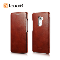 ICARER Vintage Genuine Leather Wallet Case For HuaWei Mate S Real Leather Flip Cover