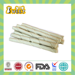 "5"" 10g-12g Mint Flavor Wholesale Bulk Gluten Free Canine Chews Rawhid Free Twist Stick White Pet Natural"