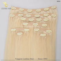 Human 8-30 Inch Indian Clip in hair extension