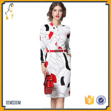 Latest Western Custom Women Dress Patterns Long Sleeves Formal Clothes