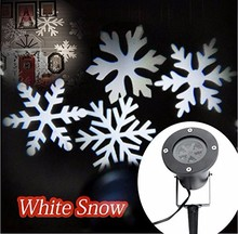 Xmas Outdoor White Snowflake Landscape Laser Projector Light For Garden Christmas