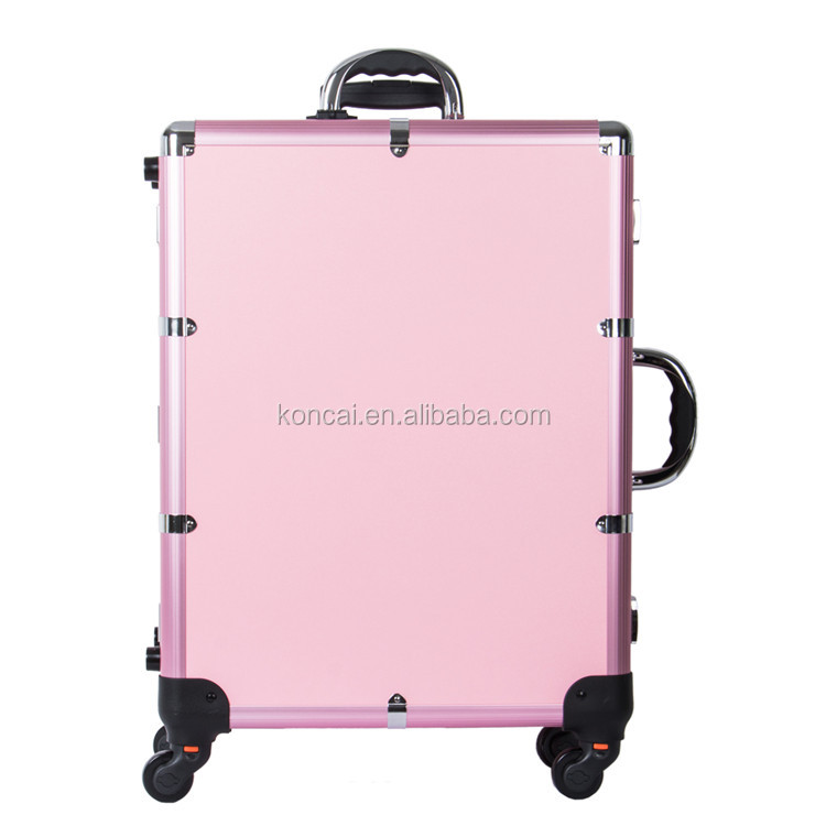 Professional Makeup Station Beauty Salon Makeup Rolling Trolley Case with Lights LED Bluetooth Music Speaker KC-214