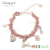Candygirl brand beautiful cheap braided bead leather wrap bracelet fashion women accessories bangle charm woven bracelet