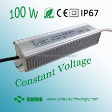 ac dc voltage converter transformers, 170v -265vac to 12v 24v 100w 8.3a ip67 led driver power convertor