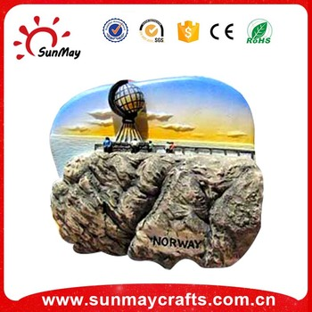 tourist fridge magnet of noway souvenir