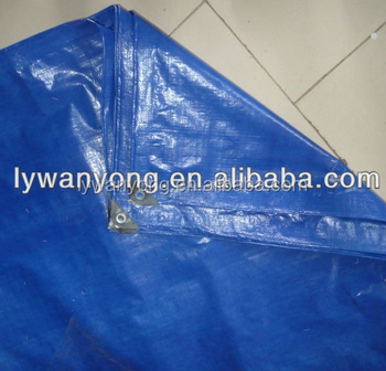 Blue PP / HDPE woven / LDPE laminated pe tarpaulin for truck / swimming pool