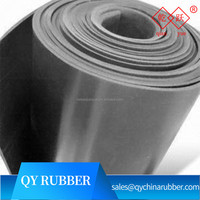 Top quality industrial black sbr thin rubber sheet
