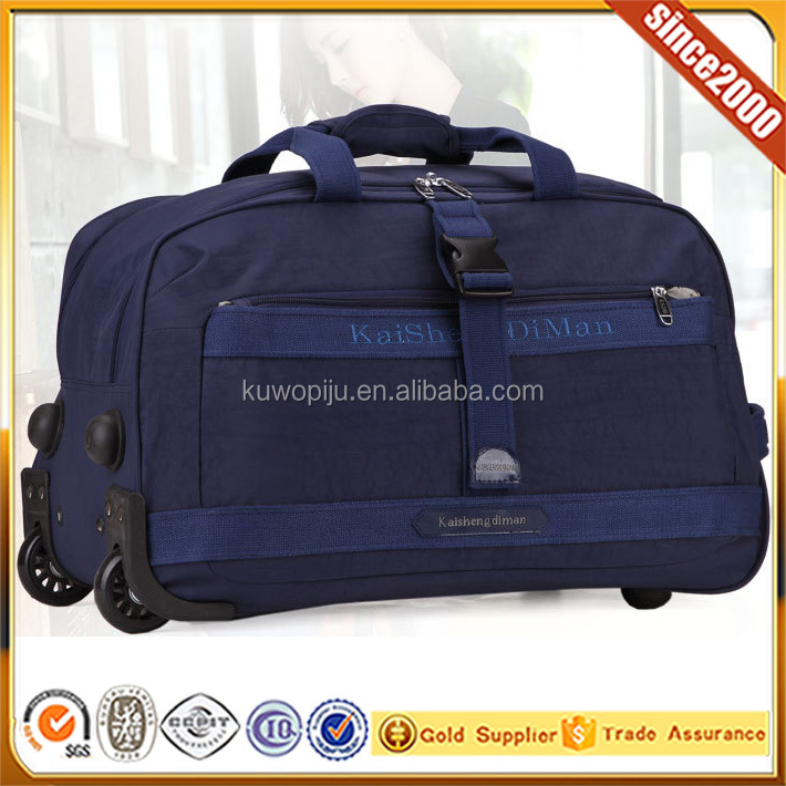 "20"" Rolling Wheeled Duffle Bag Carry On Overnight Bag Weekend luggage blue"