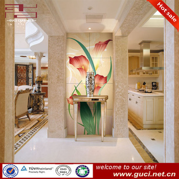 decorative flower pattern wall tiles