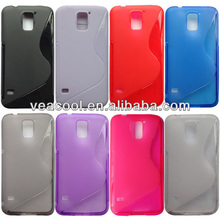 S line TPU Gel Silicone Case Cover Skin for Samsung Galaxy S5 i9600 Back Cover