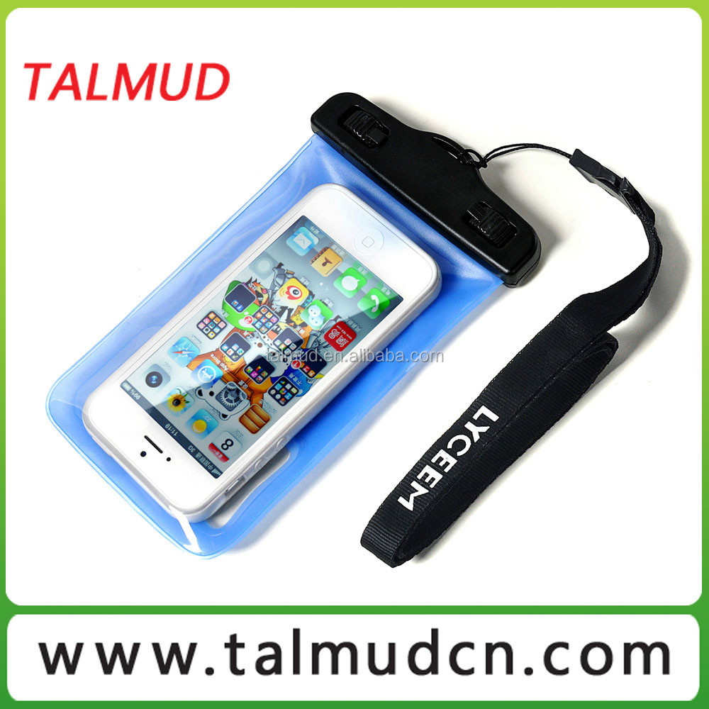 Exsiting Mould Promotional pvc cell phone waterproof bag for smartphone
