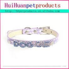 Factory price custom rhinestone letters dog collar