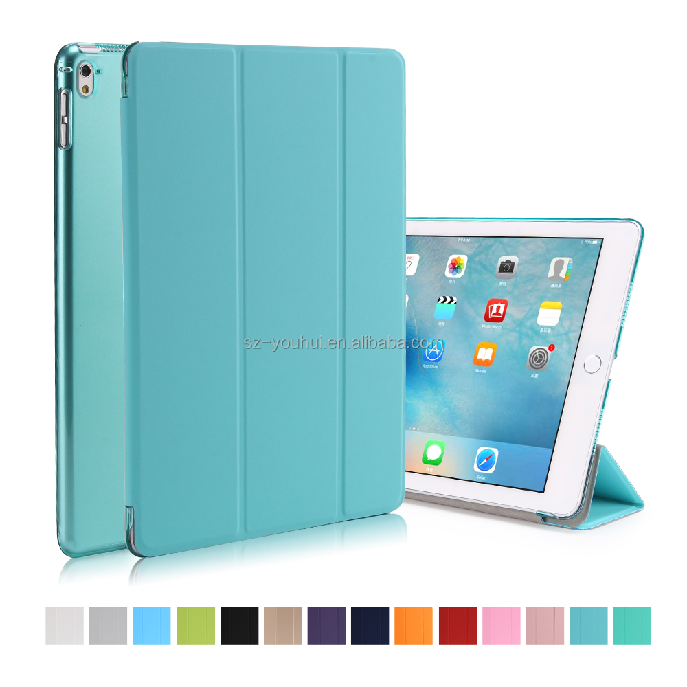 "Factory Price Smooth PU Ultra Slim Flip Cover Smart Case For iPad Pro 9.7"" Tablet Case"
