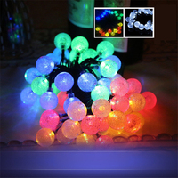 Outdoor Solar String Lights 30 LED Fairy Bubble Crystal Ball Holiday Valentine Party Decoration Lights