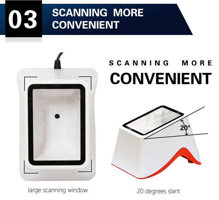 Hot Selling Auto-Sensing RS232 USB CMOS Sensor  2D Barcode Scanner QR Code on Electronic Screen for E-payment