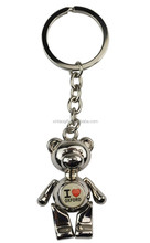 2015 Newest Promotional Gift Metal 3D bear keychain