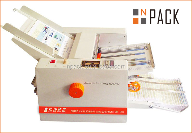 Desk Pharmaceutical Leaflets Paper File Folder Machine