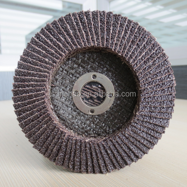 "4"" Silicon Carbide Sand Paper Abrasive Flap Disc for Furniture"