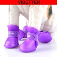 Wholesale pet Dog rain shoes with Candy Colors Waterproof rubber Dog boots