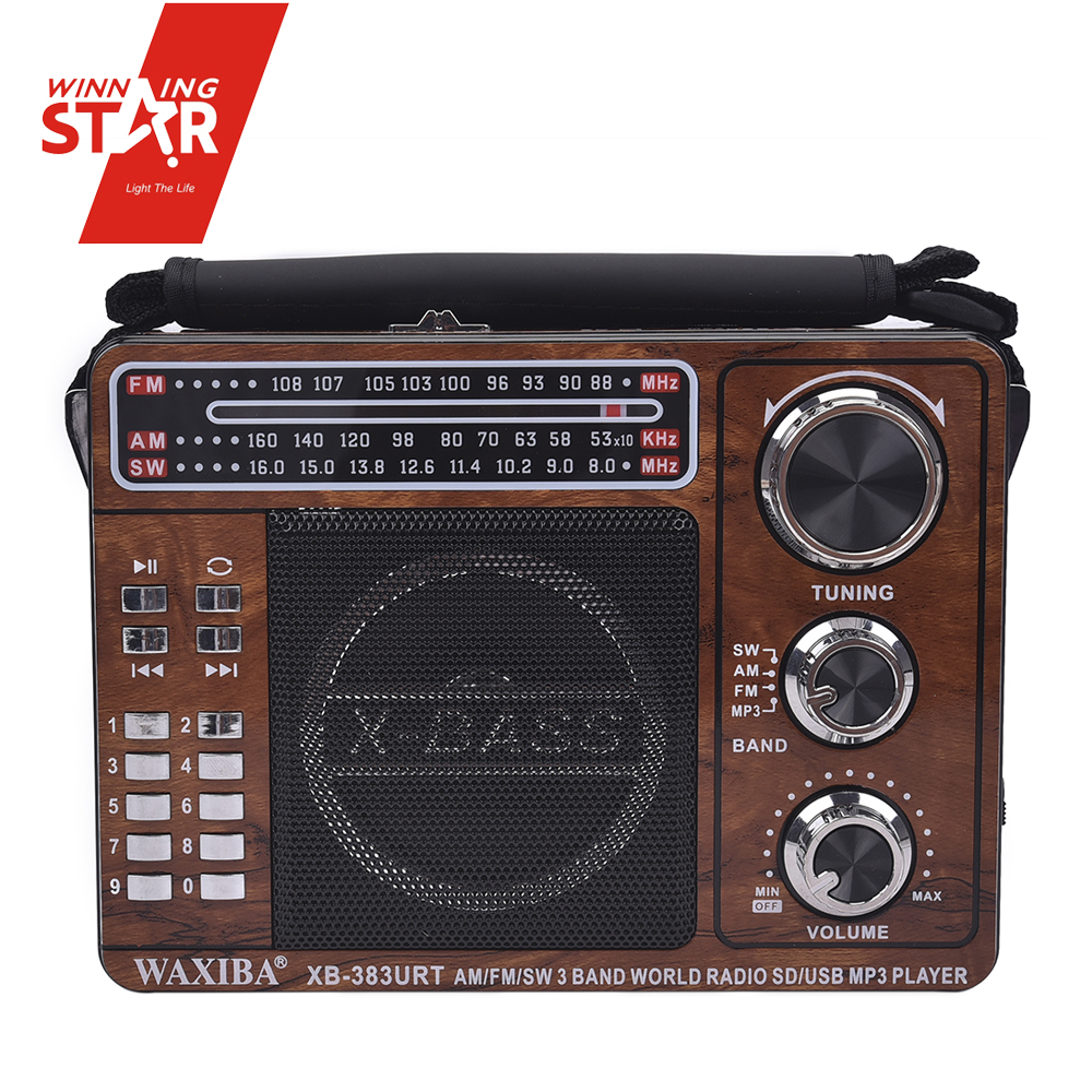 Portable wifi radio internet receiver dynamo rechargeable radio with flashlight