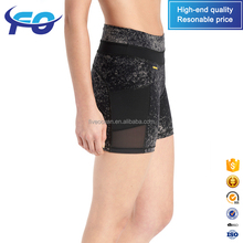 Wholesale Custom Slim Fitness Upf 50+ Moisture Transport Quick Dry Mesh Workout Gym Women Yoga Shorts