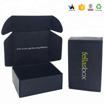 Wholesale Black Custom Printed Logo Corrugated Shipping Boxes