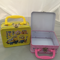 square shape tin lunch box stroage candy box handling