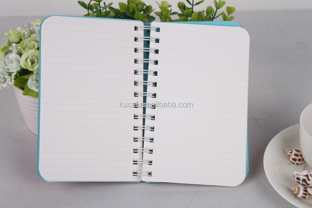 custom design paper cover spiral notebook cute korean stationery for promotion