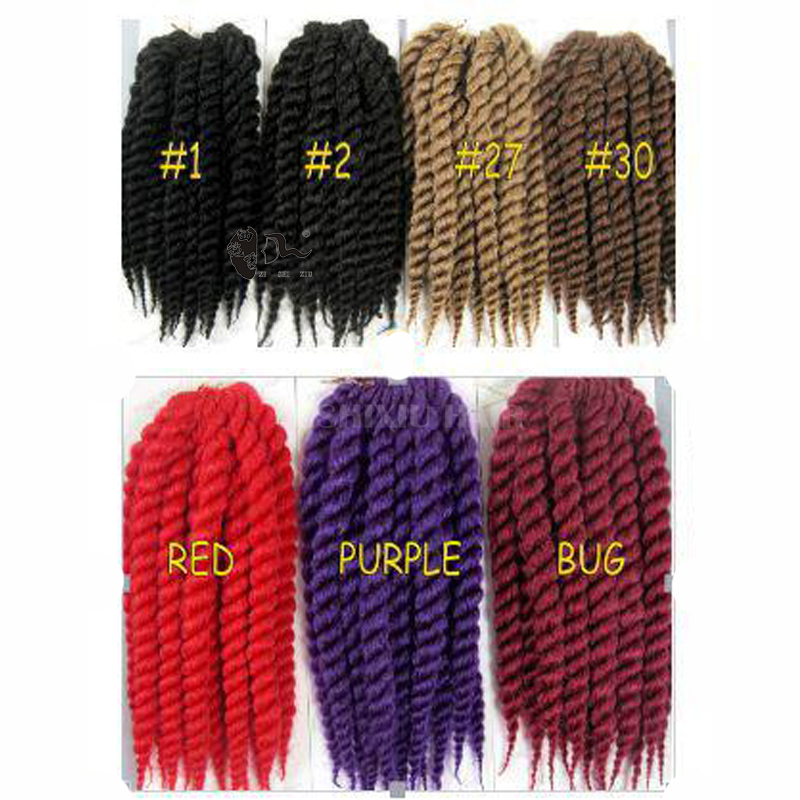 Crochet Hair Wholesale : XISHIXIU HAIR wholesale havana mambo twist Crochet Braid Hair 12inch ...
