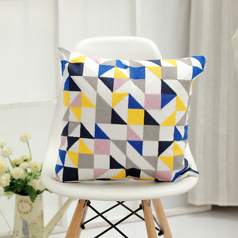 Embroidery design hot sale sofa pillow home textile throw pillow decorative