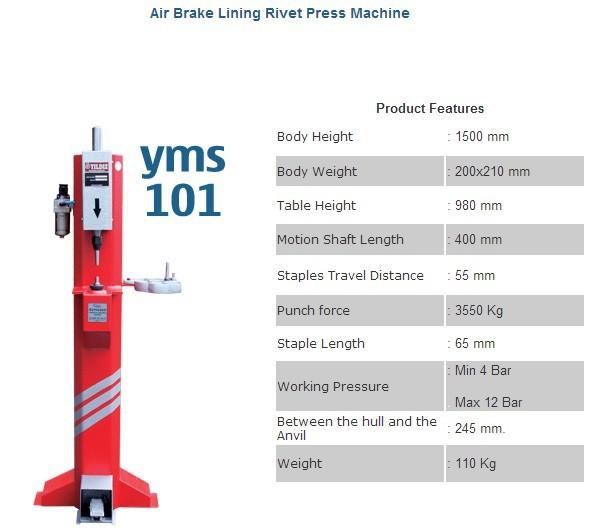 Brake Rivet Press : 空気ブレーキライニングリベットプレス機械 その他自動車ツール 製品id japanese
