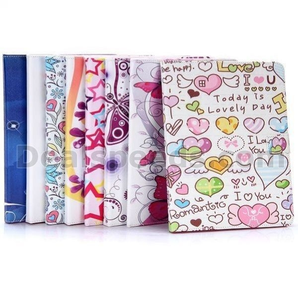Colorized Flowers & Butterfly Cross Pattern Magnetic Flip Stand TPU+PU Leather Case for iPad 2/3/4