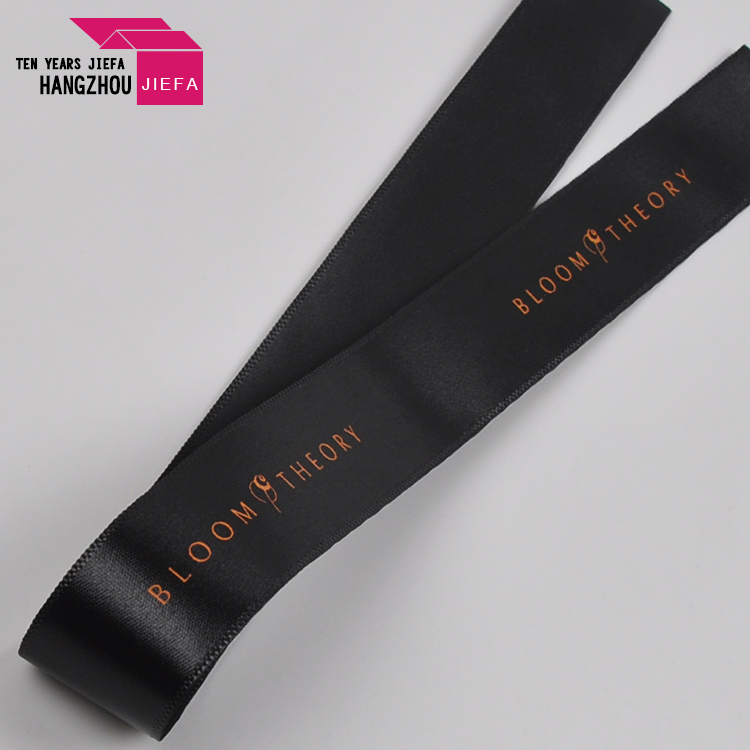 Washable eco-friendly printed custom stain silk ribbon for accessories