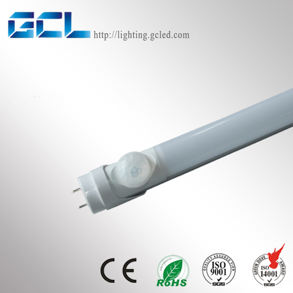 3 Years warranty CE ROHS PIR Motion Sensor 4ft T8 LED Tube 86-265v/ac for Car Parking Lots