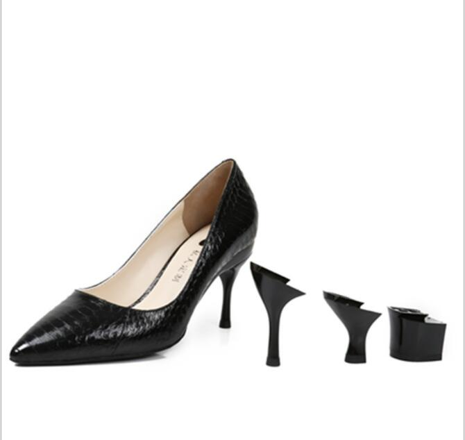 Wholesale Womens Ladies handmade leather shoes with removable <strong>heel</strong>