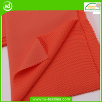 93% Nylon 7% Spandex Double Side Knitted Construction Fabric in Jacquard Mesh Pattern