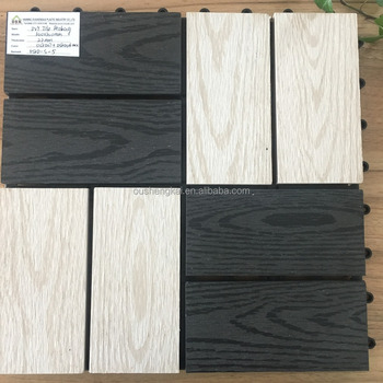 outdoor wpc FLOOR tile DIY300*300*22MM SOLID CLICK mixed color